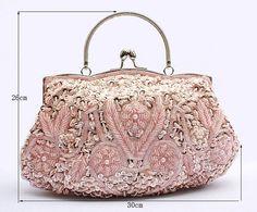 Beaded Satin Women's Evening Bags 11 Colors