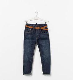 Pantalon avec ceinture- ZARA Zara Official Website, Zara Kids, Trousers, Belt, Boutique, Denim, Jeans, Outfit Ideas, Outfits