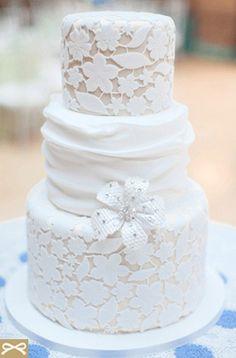 Δαντελένια Τούρτα Γάμου -  Γαμήλια τούρτα