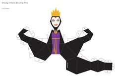 Blog_Paper_Toy_papercrafts_Disney_Villains_Bowling_Pins_Evil_Queen_template_preview