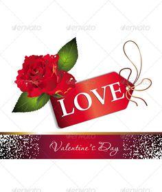 valentine day card psd