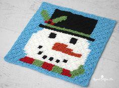 Christmas Crochet Snowman -- It's Frosty!