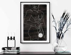 Guy Drawing, Line Drawing, Modern Prints, Art Prints, Pin On, Male Body, Gay Art, Minimalist Art, Line Art