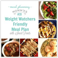 Weight Watchers Friendly Meal Plan #28 with FreeStyle Smart Points - Meal Planning Mommies Weight Watchers Meal Plans, Weight Watchers Smart Points, Weight Watcher Dinners, Weight Watchers Free, Skinny Recipes, Ww Recipes, Healthy Recipes, Healthy Meals, Skinny Meals