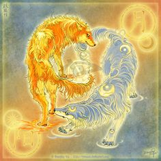 Wolves of Moon and Sun by `yuumei on deviantART