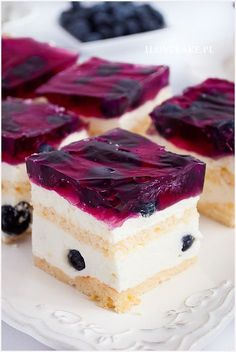 Sweets Cake, Cookie Desserts, Polish Recipes, Food Cakes, Cake Cookies, Deli, Blueberry, Cake Recipes, Seafood