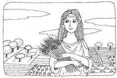 Θεά Δήμητρα Adult Coloring, Coloring Pages, Learn Greek, Greek History, Greek Art, Ancient Greece, Greek Mythology, Religion, Activities