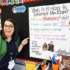 This poster saved my sanity! Students have a clear answer to when it is okay to interrupt a small group. I leave it up all year, and my students respect it- and laugh! #classroommanagement #classroomdecor #thirdgrade #elementaryschool