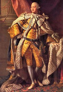 George III - Inherited the throne from his grandfather George II. The son of Frederick, Prince of Wales, and Augusta of Saxe-Gotha. He reigned from 1760 to 1820, although his son ruled as his regent during his lapses into madness. He was well-loved by the people. During his reign, Britain lost the American War of Independence.