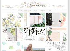 Old web design #webdesign  http://www.aprileelcich.com/