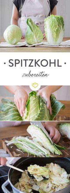 Weißkohl, Spitzkohl und Chinakohl sind ein geniales Gemüse-Trio. Mit diesen Tipps, Tricks und Rezepten bereitest du die drei Kohlköpfe einfach zu Hause zu.