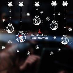 Купить товарРождественский Бал Кулон Стеклянной Пасты Окна Двери Стикер…
