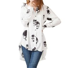 Little Hand Womens Skull Printed Chiffon Button Down Loose Blouses Shirt Tops M Little Hand http://www.amazon.com/dp/B00IRX2YSS/ref=cm_sw_r_pi_dp_pFK5tb1F57TGB