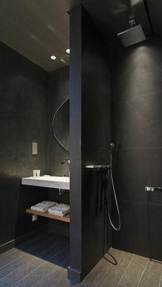 Room-Decor-Ideas-Bathroom-Ideas-Luxury-Bathroom-Black-Bathroom-Design-Luxury-Interior Source by Bathroom Design Luxury, Bathroom Layout, Modern Bathroom Design, Bathroom Ideas, Bath Ideas, Diy Ideas, Decor Ideas, Bad Inspiration, Bathroom Inspiration