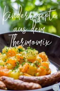 Potato and carrot vegetables with bratwurst from the Thermomix - Thermomix & mehr ‼️ - Potatoes Recipes Greek Recipes, Baby Food Recipes, Indian Food Recipes, Salad Recipes, Dinner Recipes, Ethnic Recipes, Light Recipes, Vegetarian Recipes, Hamburger Meat Recipes