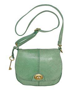 Fossil Handbag, Carson Flap Crossbody Bag - Handbags & Accessories - Macy's
