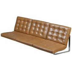 Wall-Mounted 3-Seater Leather Sofa by Gerlev and Knudsen | From a unique collection of antique and modern sofas at http://www.1stdibs.com/furniture/seating/sofas/