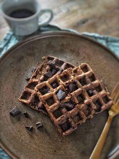 Healthy Waffles, Healthy Breakfast Recipes, Breakfast Ideas, Lactose Free Recipes, Gluten Free Breakfasts, I Foods, Food Porn, Snacks, Chocolate