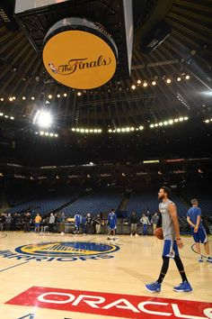 Stephen Curry of the Golden State Warriors during practice and media availability as part of the 2017 NBA Finals on May 31 2017 at ORACLE Arena in...