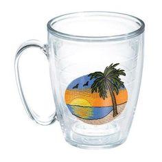 Tervis Tumbler Sun and Surf Palm Tree Scene Mug
