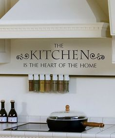 Take a look at this Black 'Kitchen' Wall Decal by Wallquotes.com by Belvedere Designs on #zulily today!