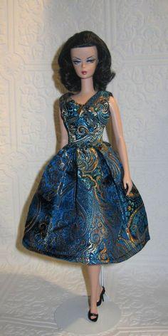 Ooak Vintage Cocktail Dress for Barbie Silkstone & FR dolls by TammyRaye #Custommade
