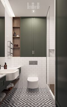 bathroom layout Residential appartment on Behance Washroom Design, Toilet Design, Bathroom Design Small, Bathroom Interior Design, Modern Bathroom, Bathroom Ideas, Kitchen Interior, Small Bathroom Inspiration, Interior Livingroom