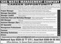Managing Director Jobs In Bahawalpur Waste Management Company