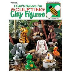 Teaches the craft of sculpting with polymer clay. This title offers step-by-step photo instructions that guide beginning sculptors to create 14 adorable clay figures and 10 easy magnets in fun shapes like animals, bugs, and Christmas figures. Polymer Clay Tools, Polymer Clay Projects, Fimo Clay, Fun Easy Crafts, How To Make Clay, Cute Clay, Clay Figurine, Clay Ornaments, Clay Animals