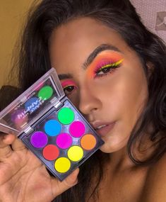 [New] The 10 Best Makeup Today (with Pictures) – Gentxiii What palette madness is this my god? Makeup Geek Eyeshadow, Neon Eyeshadow, Glam Makeup, Makeup Inspo, Makeup Art, Makeup Inspiration, Beauty Makeup, Eyeshadows, Insta Makeup