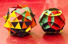 7 Templates for Slide-Together Geometric Paper Constructions  This could rule for kids done early who want to make something AWESOME.