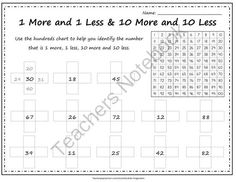1 more 1 less 10 more 10 less & Number Grid Puzzle from AbsoluteImagination on TeachersNotebook.com -  (8 pages)  - Page 1 & 2: Numbers 1-99 Page 3 & 4: Hundreds Page 5 & 6: Thousands Page 7 & 8: 3 Digit Number Grid Puzzle