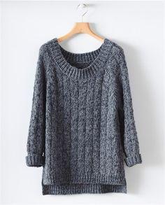 Image of Chunky Hand knit Sweater Hand Knitted Sweaters, Pullover Sweaters, Hand Knitting, Knitting Ideas, Yarn Inspiration, Pulls, Knit Cardigan, Knitwear, Knit Crochet