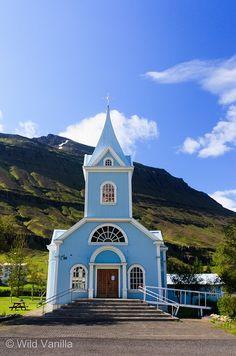 Blue Church, Seyðisfjörður, Iceland