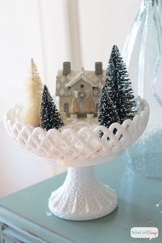 Atta Girl Says   How to Use Vintage Decor At Christmas   http://www.attagirlsays.com
