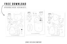 art from art (woodland animals + templates) - jones design company