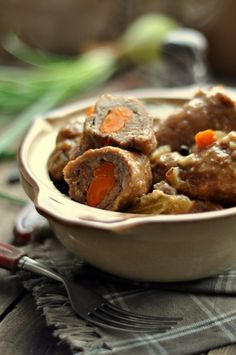Roladki wieprzowe z sosem grzybowym