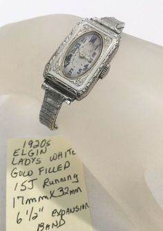 Ladys White Gold Filled Elgin Watch Running X 6 Condition is Pre-owned. Wind Up Pocket Watch, Vintage Pocket Watch, Keystone Stars, Elgin Watch, Vintage Watches Women, Bulova, Rolex Watches, 1920s, White Gold