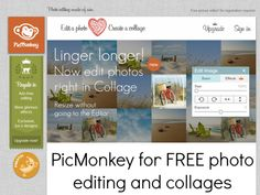 PicMonkey for FREE photo editing and collages