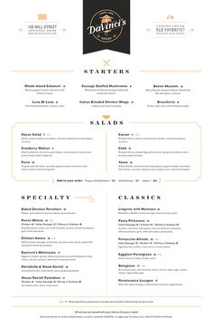 Art of the Menu: DaVinci's Eatery
