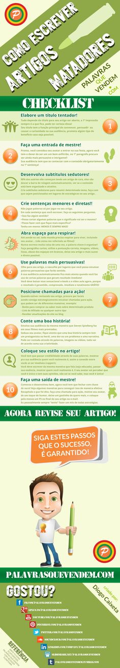 Aprenda a escrever um artigo matador!! Passo a Passo! Social Marketing, Inbound Marketing, Marketing Digital, Business Marketing, Content Marketing, Internet Marketing, Coaching, Research Writing, Study Techniques