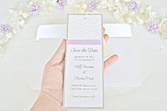 Embossed save the date bookmark with lilac ribbon, lilac save the date bookmark, save the date bookmark, save the date invitations Lilac Wedding, Save The Date Invitations, All Paper, Sell On Etsy, Pinterest Board, Emboss, Paper Design, Paper Craft