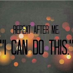 Yes you can! We can!