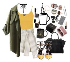"""yellow cat"" by wickedcrystal ❤ liked on Polyvore featuring Topshop, Fendi, 3.1 Phillip Lim, Valentino, Joomi Lim, Chanel, Miu Miu, tarte, Sonia Kashuk and Urban Decay"