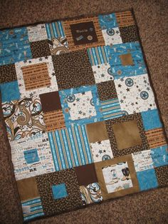 Western Baby Quilt with Cowboy saying by jessicashorsenaround, $65.00