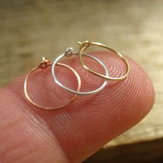 Solid Nose Ring Set 26 gauge Extreme Thin by mysticmoonsprecious