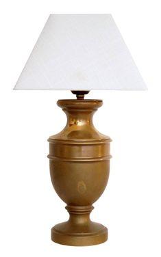 Sehr elegante original Jugendstil Amphore Schreibtischlampe neuer Stoffschirm