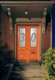 Modern Small Budget Condo Interior Design - Home Improvement Inspiration Condo Interior Design, Orange Door, Urban Fabric, Architecture Panel, Dutch Door, House Numbers, Curb Appeal, Beautiful Homes, 1