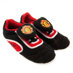 MANCHESTER UNITED Children's Football Boot Slippers Size 3/4. In club colours and featuring the club crest. Official Licensed Manchester United gift. PRICE INCLUDES DELIVERY