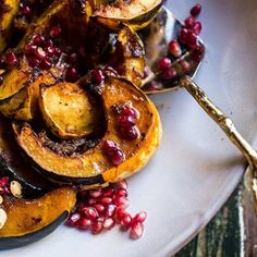 Brown Sugar & Pineapple Roasted Acorn Squash with Spiced Brown Butter // @halfbakedharvest. Find this #recipe and more on our Holiday Sides Feed at https://feedfeed.info/thanksgiving-christmas-side-dishes?img=1231813 #feedfeed